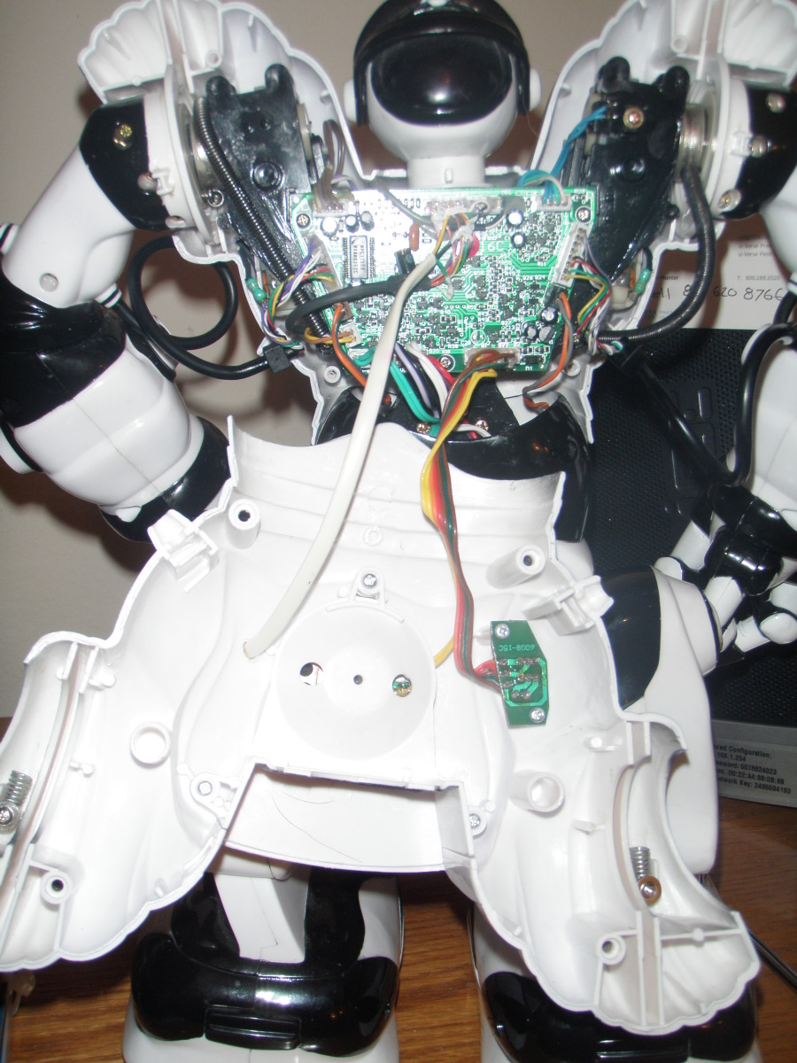 Photo of RoboSapien's Back